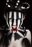 Ventilatore di calcio della giovane donna Fotografia Stock Libera da Diritti