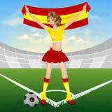 Ventilatore di calcio spagnolo Fotografie Stock