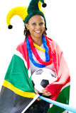 Ventilatore di calcio sudafricano Immagini Stock