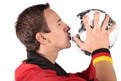 Ventilatore di calcio tedesco Immagini Stock