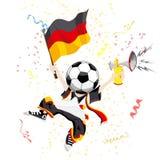 Ventilatore di calcio tedesco Fotografie Stock