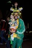 Ventilatore di calcio - vestito tradizionale Fotografie Stock Libere da Diritti