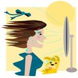 Ventilatore di estate immagine stock