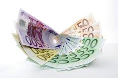 Ventilatore di euro banconote Immagine Stock Libera da Diritti