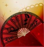 Ventilatore di flamenco illustrazione di stock