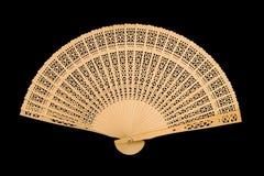 Ventilatore di legno fotografia stock