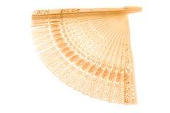 Ventilatore di legno (isolato) Fotografia Stock