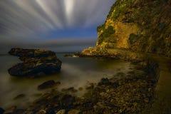 Ventilatore di notte delle nubi fotografia stock libera da diritti