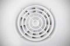 Ventilatore di plastica bianco rotondo dell'aria immagini stock libere da diritti