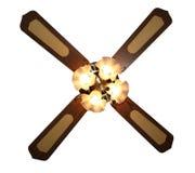 Ventilatore di soffitto dei quattro indicatori luminosi fotografie stock