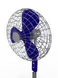 Ventilatore di ventilatore elettrico su priorità bassa bianca Immagine Stock Libera da Diritti