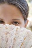 Ventilatore ed occhi Immagine Stock