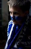 Ventilatore footbal di Chelsea Londra fotografia stock