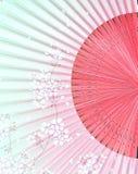 Ventilatore giapponese con il simbolo del Giappone immagine stock