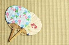 Ventilatore giapponese - uchiwa- Fotografie Stock Libere da Diritti