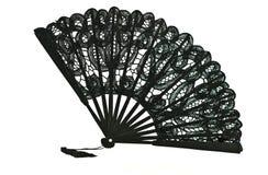 Ventilatore nero del merletto fotografia stock libera da diritti