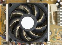 Ventilatore polveroso del CPU Fotografie Stock Libere da Diritti
