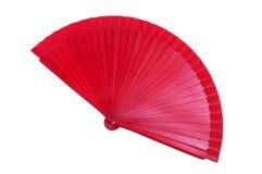 Ventilatore rosso della mano Fotografie Stock Libere da Diritti