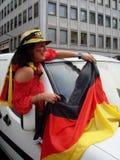 Ventilatore tedesco femminile immagini stock