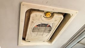 Ventilatorer på bussen arkivbild