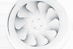 Ventilatorflügel der modernen Lüftungsanlage Lizenzfreies Stockbild