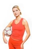 ventilatorfotboll royaltyfria bilder