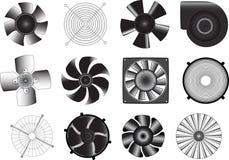 Ventilatori Fotografie Stock Libere da Diritti