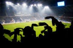 Ventilatori che celebrano obiettivo Fotografia Stock Libera da Diritti