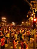 Ventilatori che celebrano vittoria Fotografia Stock