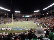 Ventilatori che contengono l'azione di gioco del calcio Fotografie Stock Libere da Diritti