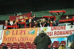 Ventilatori COME di Roma ad una corrispondenza Fotografia Stock Libera da Diritti