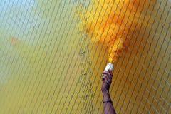 Ventilatori di calcio Fotografia Stock