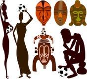 Ventilatori di calcio africani royalty illustrazione gratis