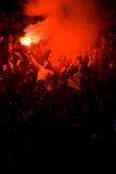 Ventilatori di calcio allo stadio Immagine Stock