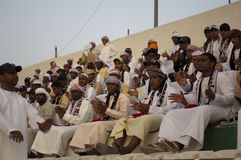 Ventilatori di calcio dell'Abu Dhabi Fotografia Stock
