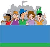 Ventilatori di sport 2 Fotografie Stock Libere da Diritti