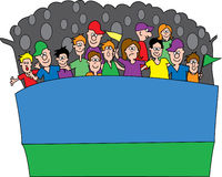 Ventilatori di sport 3 illustrazione vettoriale