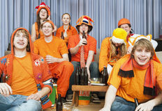 Ventilatori felici Immagini Stock Libere da Diritti