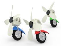 Ventilatori sulle ruote, 3D illustrazione di stock