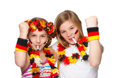 Ventilatori tedeschi che jubilating Fotografie Stock Libere da Diritti