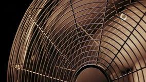 Ventilatorinschakelen en weg stock footage