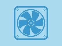 Ventilatorpictogram, vectorillustratie, minimaal ontwerp Stock Afbeeldingen