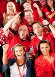 Ventilators: De mannelijke Vrienden juichen op Team toe Royalty-vrije Stock Afbeelding