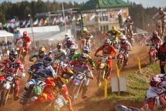 Ventilators in Motocross van Naties 2014 royalty-vrije stock foto's