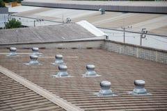 Ventilators on roof Stock Photos