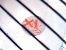 Ventilatorwaarschuwingsbord Stock Afbeelding