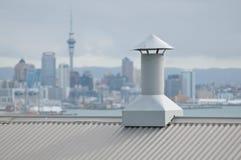 Ventilerande kanal på taket Royaltyfri Fotografi