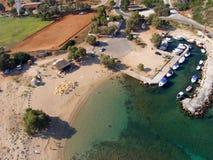 Ventili la fotografia, Agios Ounoufrios Beach, Chania, Creta, Grecia Fotografia Stock