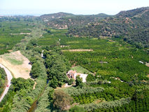 Ventili la fotografia, l'area di Drakiana, Platanias, Chania, Creta, Grecia Fotografia Stock
