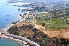 Ventili la fotografia, la spiaggia di Stalos, Chania, Creta, Grecia Fotografia Stock